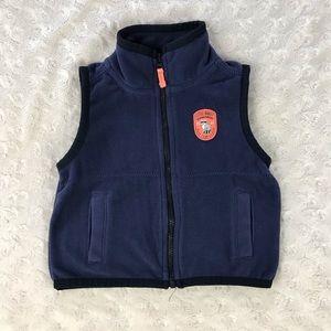 Carter's Blue Fleece Vest Raccoon 6 Months